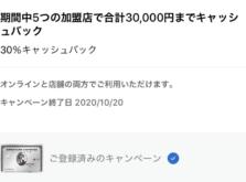 高島屋やヨドバシ.com、ビックカメラ.com等で30%キャッシュバック-Amexプラチナカード会員向け特典