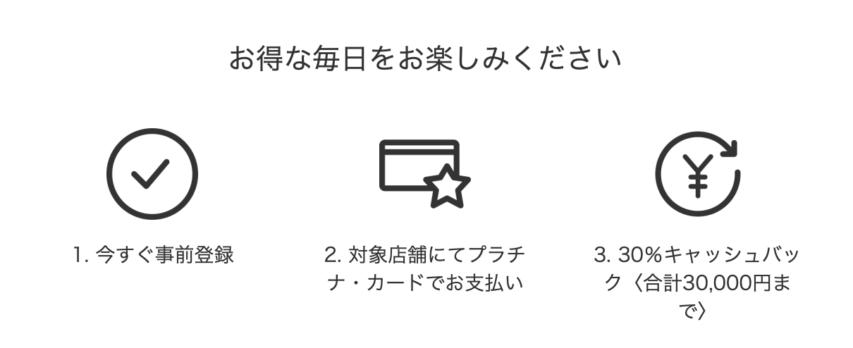 高島屋やヨドバシ.com、ビックカメラ.com等で30%キャッシュバック-Amexプラチナカード会員向け特典_ロゴ