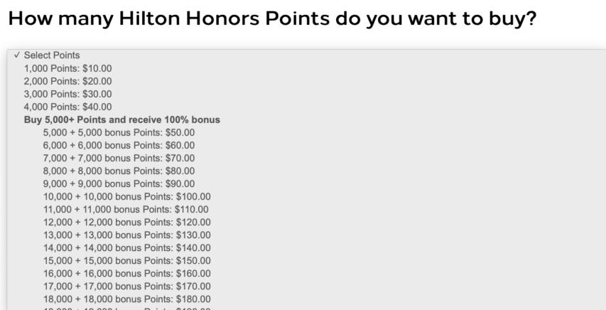 ヒルトンオーナーズポイント購入で100%分ボーナス獲得-ポイント有効期間延長にも利用可能_購入HP1